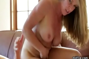 sexy cougar receives mouthful of cum