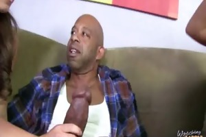 d like to fuck receives huge dark knob in her