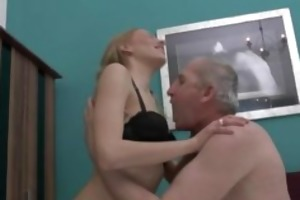 bawdy old dude acquires cheerful by this cute