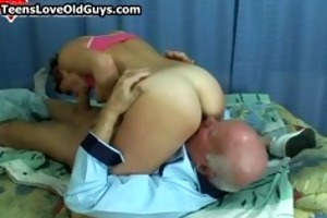 excited granddad receives to fuck a cute part3