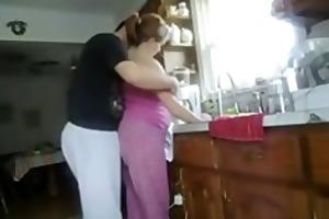 kitchen from behind quickie
