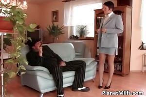 horny short haired whore receives anal part4