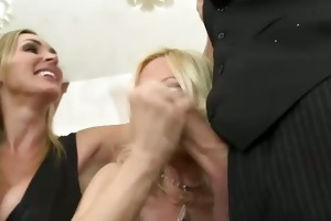 cfnm honeys engulfing their waiter and can
