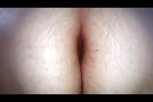 wifes lengthy pubic hair &; hairy arse crack