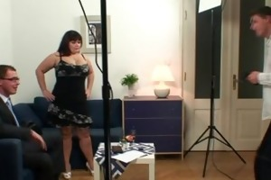 obese doxy is double drilled after photosession