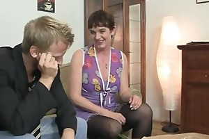 her hirsute old wet crack acquires screwed by