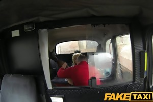 faketaxi golden-haired d like to fuck copulates