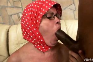jock engulfing grandma gets fucked!
