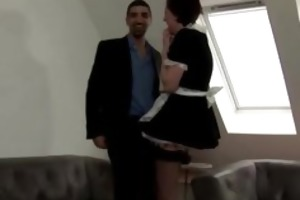 older european maid in stockings acquires