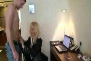 diminutive titted golden-haired mama drilled in