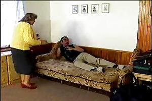 aged lady takes a pounding