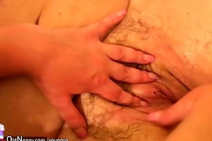 threesome with old older younger older and their