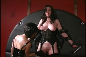 oriental female-dominant playing with the