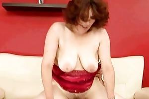 lusty breasty grandma enjoys hard fucking