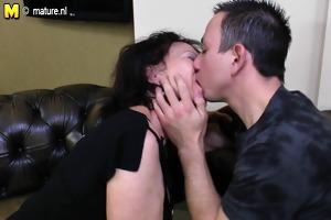 youthful guy copulates grandmother