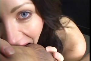 dark brown licks and sucks balls during