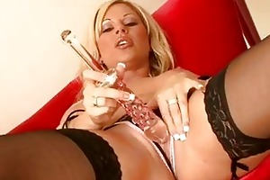 provocative blond mother i in sexy underware