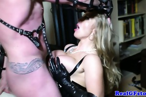 bdsm golden-haired real d like to fuck anal