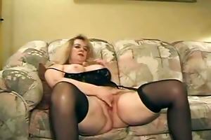 older old floozy receive drilled by two man