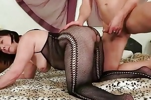 granny in body pantyhose getting drilled