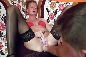 fist fucking the wifes biggest cookie untill she