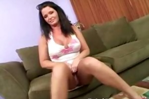 bigtits excited cougar masturbates as she is
