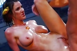 slim darksome haired mother i pornstar with large