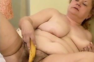 impure old whore goes mad masturbating part4