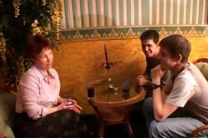 mom &; 4 lads at bar