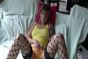 naughty wife ana masturbates with pants on