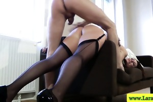 mature mother i on side getting plowed in her