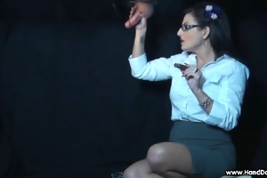 smokin femdom brilliance gap tugjob by