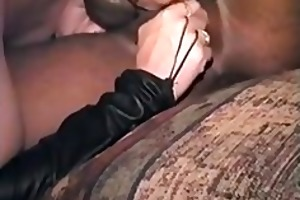 wife getting her threesome blk dong as husban