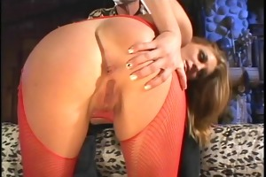 anal golden-haired is a cock juice wench likewise