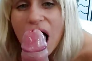 shy wife sucks her boyfriends dick for him on