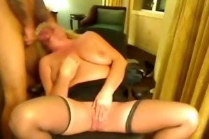 ladyeve gags and chokes on the younger mans hard