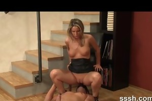 porn for honeys - wife puts sextoy on mans face